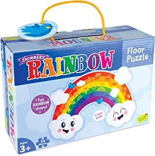 Peaceable Kingdom Shimmery Rainbow Floor Puzzle