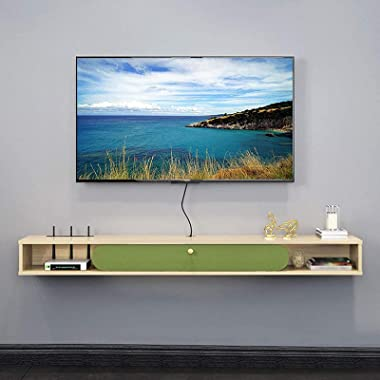 Floating Tv Cabinet, Wall Mounted Media Console,Floating Shelf Television Cabinet,Reasonable Use of Wall Space, Save The Grou
