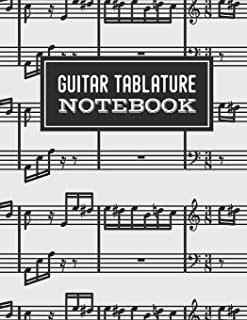 Guitar Tablature Notebook: Music Paper for Teachers, Students, Guitar Players and Musicians