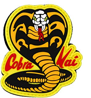 NEO Tactical Gear Cobra Kai Karate Kid Johnny Lawrence PVC Rubber Morale Patch, Hook Backed Morale Patch
