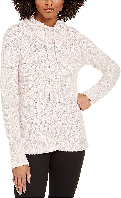 Ideology Womens Cowl Neck Fitness Sweatshirt