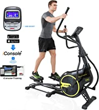 SNODE Magnetic Elliptical Machine Trainer Fitness Exercise Equipment for Home Workout with Cross Crank and LCD Monitor
