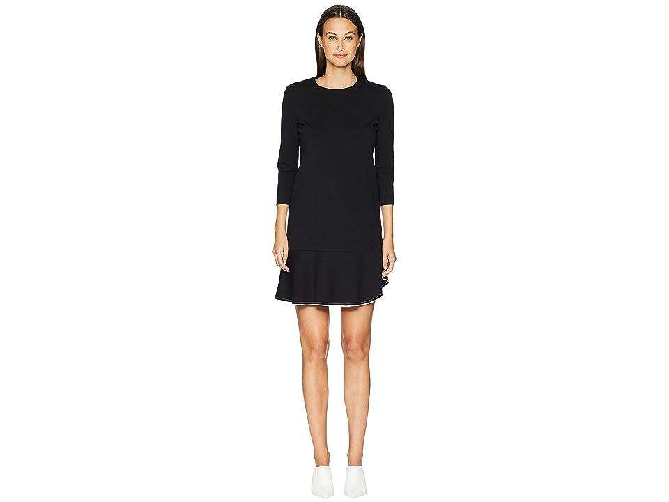 ESCADA Daharas 3/4 Sleeve Dress (Black) Women