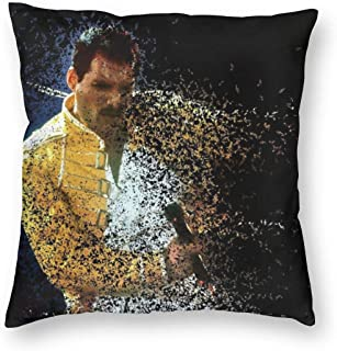 SSG One Street Velvet Soft Modern Decorative Square Throw Pillowcases Housewarming Gifts, Freddie Mercury Blink Bohemian Rhapsody Fan Gift Allergy Proof Cushion Cover for Couch Playroom