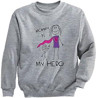 Tstars - ママの日に贈るママヒーロープレゼント ママはスーパーヒーローギフト スーパーヒーローママにプレゼント スーパーママ キッズスウェットシャツ