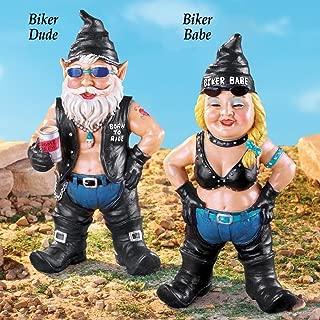 APC Goods Hand Painted Garden Gnome Biker, Each Sold Separately (Born To Ride Biker Dude)