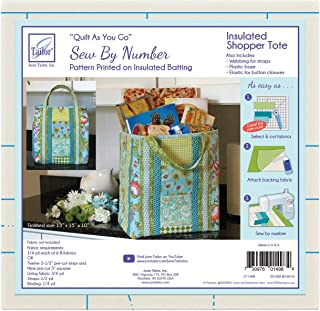 June Tailor Inc JT-1498 Quilt As You Go Insulated Shoppers Tote QAYG Sew/Nbr InsulatedShopTote, None