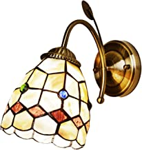 Baroque Wall Sconce Lights Tiffany Style Natural Shell Wall Lamps Mediterranean Vanity Lamp for Bathroom Living Room Bedsi...