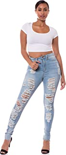 Aphrodite High Waisted Jeans for Women - High Rise Skinny Womens Distressed Ripped Jeans