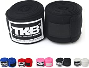Top King Cotton Handwraps Hand Wraps Color Black Blue Red White Pink Thailand for Muay Thai, Boxing, Kickboxing, MMA