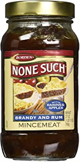 Borden Naturals Rum and Brandy Mincemeat Pie Filling and Topping | (1) 27 Ounce Jar –..