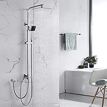 (Doucheset zonder kraan) douchearmatuur, regendouche, douchesysteem incl. hoofddouche, handdouche, doucheset, in hoogte ve...