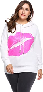 IN'VOLAND Plus Size Women's Pullover Hoodie Loose Long Sleeve Casual Sweatshirt