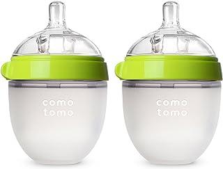 Comotomo Natural Feel Baby Bottle, Double Pack Green, 150ml (5 oz)