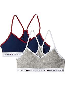 Tommy Hilfiger Girls 2 Pack Colour Block Cotton Bikini Navy Blazer//Snow White
