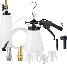 DASBET Pneumatic Brake Fluid Bleeder Tool with 4 Master Cylinder Adapters 90-120 PSI