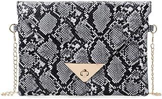 fd40937fc6 hnnew Femmes Enveloppe Messenger Sacs Peau de serpent Imprimer Mode  Crossbody Clutch