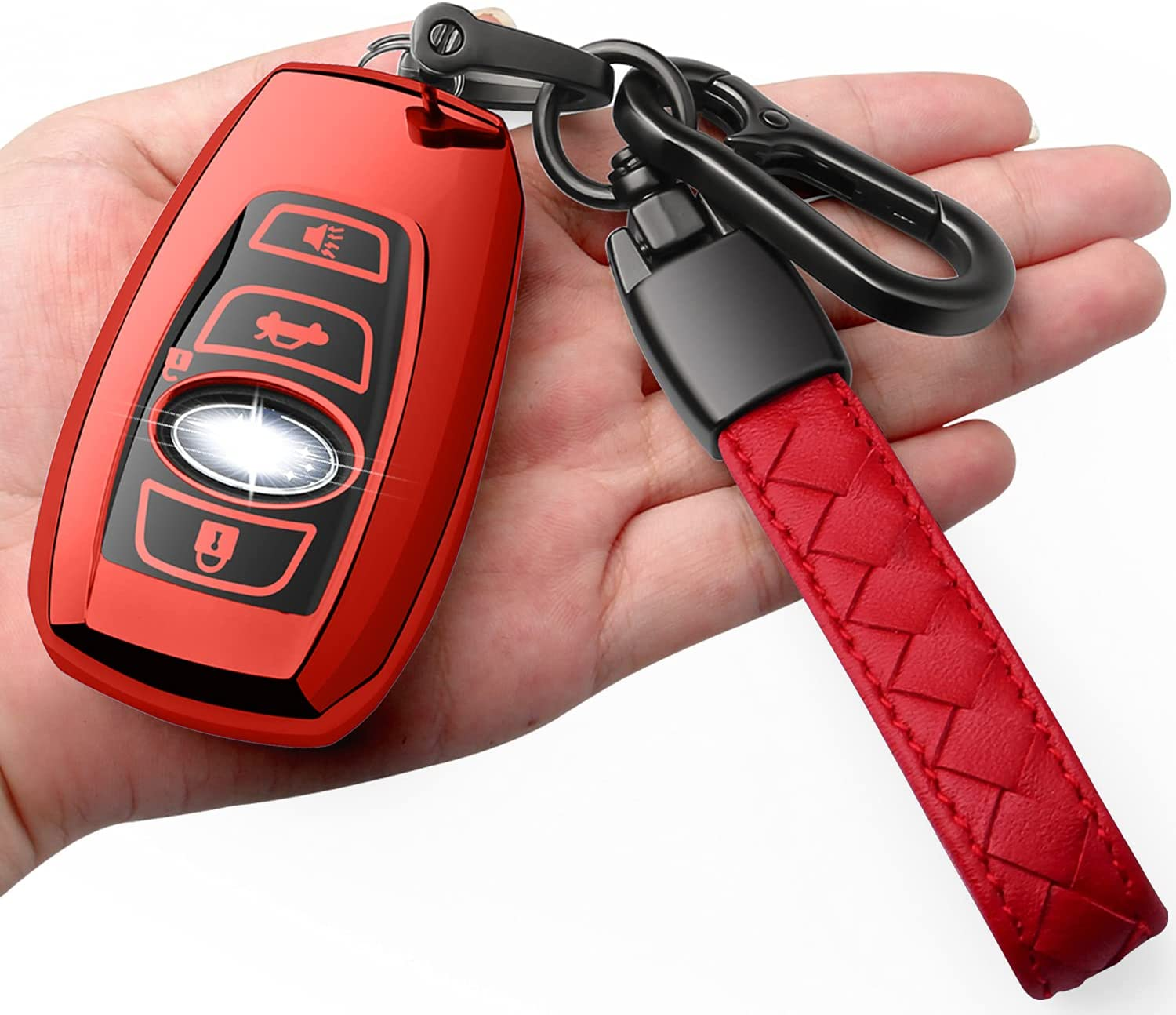 Autophone Max 44% Regular discount OFF for Subaru Key Fob Cover TP Leather With Soft Keychain