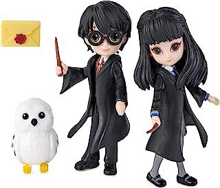 Harry Potter 6061832 vriendschapsset met 2 beweegbare figuren Harry and Cho, 8 cm, met accessoires – speelgoed voor kinder...