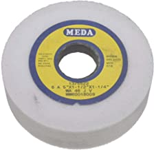 Meda 5 x 1-1/2 x 1-1/4 46J Straight Cup White Aluminum Oxide Grinding Wheel