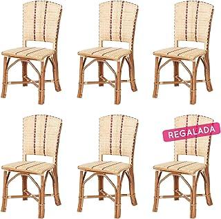 Rebajas : -31% Lote de 6 sillas de Ratan Soria
