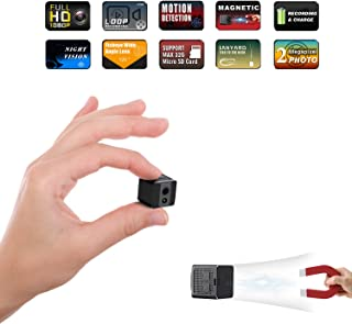 Mini Spy Camera Cop Spy Cam 1080P Spy Camera Wireless Hidden Mini Camera Spy Hidden Spy Camera-No WiFi Needed-Nanny Cam with Night Vision and Motion Detection-Surveillance Camera for Home, Office