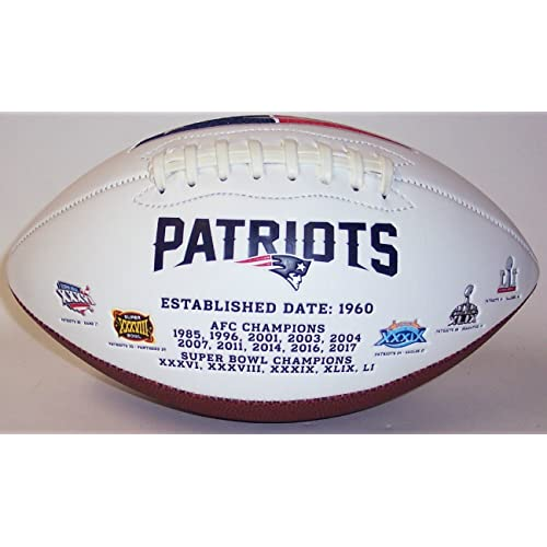 6494cd545 New England Patriots Embroidered Logo Signature Series Full Size Football -  with Super Bowl 51 LI