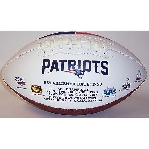 0c4e48b34 New England Patriots Embroidered Logo Signature Series Full Size Football -  with Super Bowl 51 LI