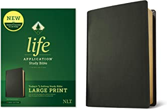 Tyndale NLT Life Application Study Bible, Third Edition, Large Print (Genuine Leather, Black, Red Letter) – New Living Tra...