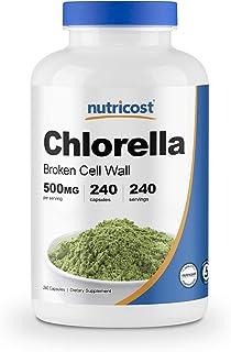 Nutricost Chlorella Capsules 500mg, 240 Veggie Capsules - Non-GMO and Gluten Free