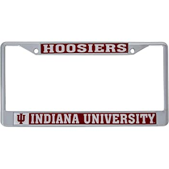 Desert Cactus State of Indiana Flag License Plate Frame for Front Back of Car Vehicle Truck Hoosier