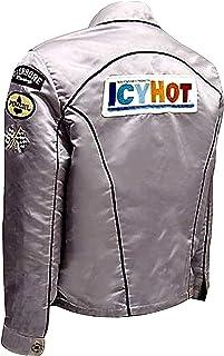 LP-FACON Death Proof Silver Jacket - ICY Hot Jacket Kurt Russell Death Proof Stuntman Mike Racing Silver Satin Jacket - Zi...