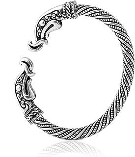 فيش هوك أزياء خمر الفايكنج الغراب رئيس المسمار الكفة الإسورة سوار سوار مجوهرات الحيوان للرجال النساء