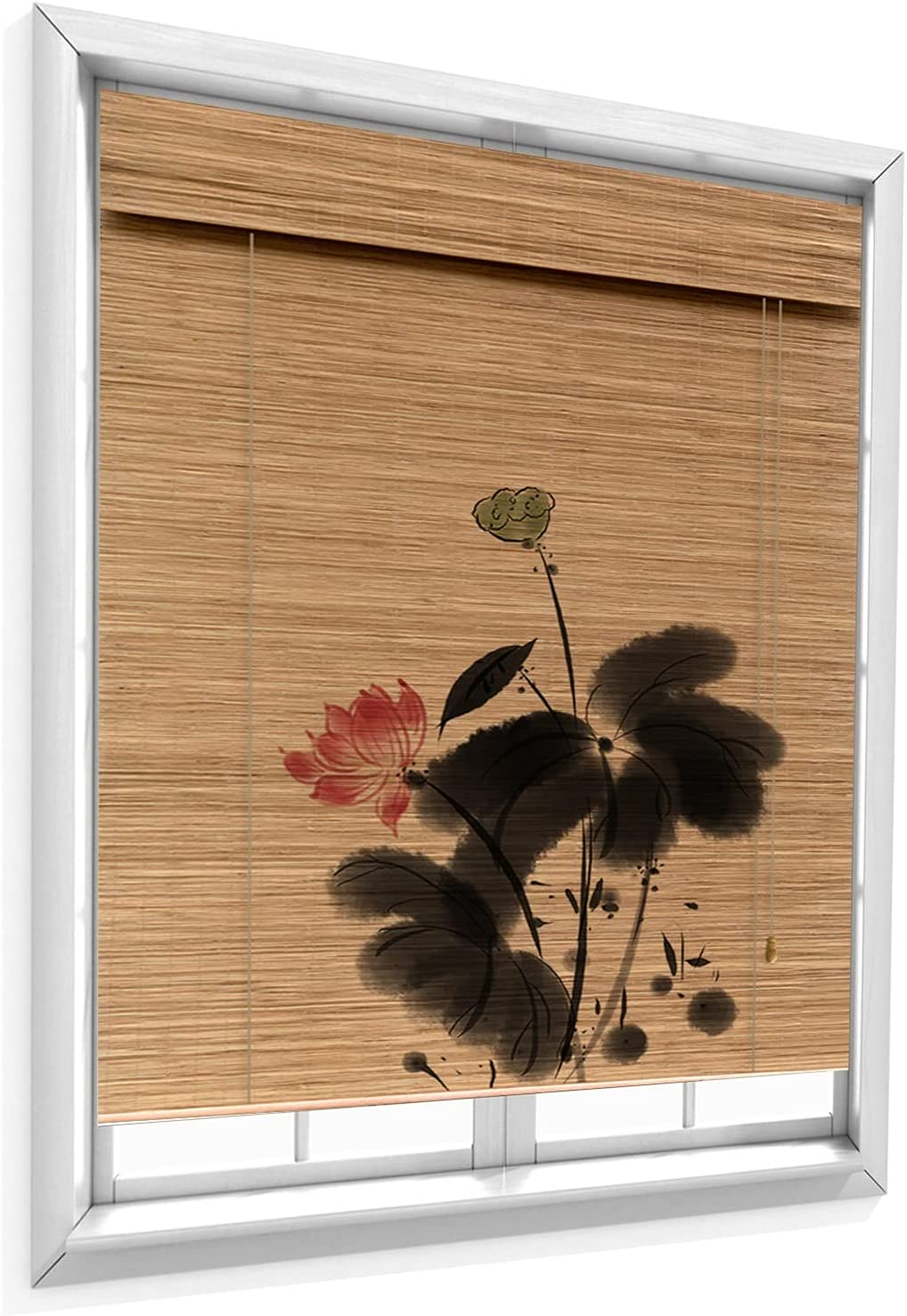 JUANJUAN Bamboo Roller Shade Challenge the lowest price of Japan ☆ Privacy Window Blinds Indoo Screen Max 59% OFF