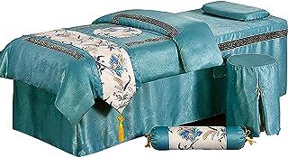 Chilechuan SPA Behandeling schoonheidssalon massage tafel bed rok, massage tafel cover 4-delig schoonheid sprei hoogwaardi...