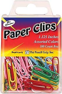 The Pencil Grip Paper Clips 1.125-inch, Multi-Colour, 1.88 x 5.72 x 9.15 cm