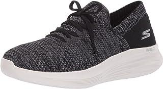 حذاء رياضي نسائي للمشي من Skechers أسود/رمادي، 10. 5 M US