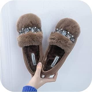 Cotton Scoop Shoes Woman Korean Big Rhinestone Luxury Design peas Flat Loafers Mujer modis Espadrilles Female Comfy