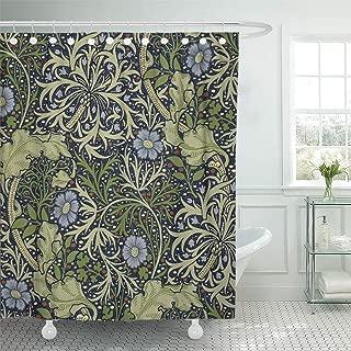 Semtomn Shower Curtain Vintage William Morris Seaweed Nouveau 66