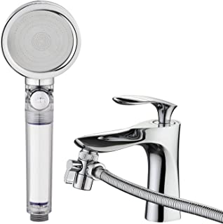 JIANAN Sink Sprayer Hose 3-Mode High Pressure Filter Bathtub Faucet Rinser 6.5 Feet Shower Hose Good for Hair Washing and Pet Washing,Sink Hose Attachment for Handicapped, Elderly, Injured, Toddlers