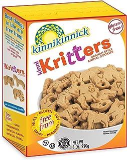 Kinnikinnick KinniKritters Gluten Free Graham Style Animal Cookies, 8oz/220g (Pack of 6)