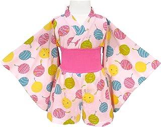 アスナロ(パジャマ?ルームウェア) ゆかた風パジャマ キッズ 女の子 子供 和柄 和風 腹巻付き 浴衣