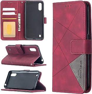 LODROC Lederen Portemonnee Case voor Galaxy A01, [Kickstand Feature] Luxe PU Lederen Portemonnee Case Flip Folio Cover met...