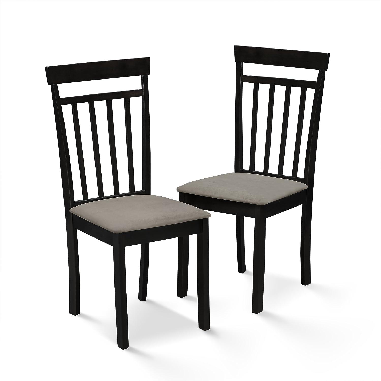 Furinno FKKS007-C2 Kansas Dining Chair (2Pc), Espresso