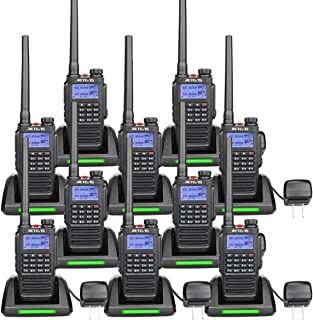 Retevis RT87 2 Way Radios Long Range IP67 Waterproof VHF UHF Dual Band 128CH FM Radio Emergency Alarm Two Way Radio Rechargeable (10 Pack)