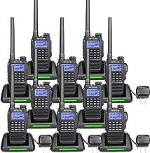 Retevis RT87 2 Way Radios Long Range IP67 Waterproof VHF UHF Dual Band 128CH FM Radio Emergency Alarm Two Way Radio Rechargeable (10 Pack)