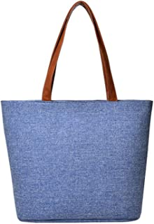 Shoulder Bag Canvas Girl Fashion Useful Solid Totes handbag