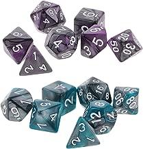 Blesiya 14x 1.6cm/0.62'' Polyhedral Dice D12 D10 D8 D6 D4 Warhammer Table Game Toy