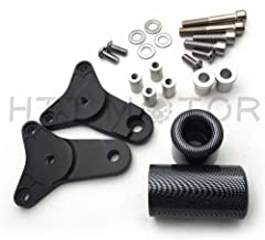 Carbon No Cut Frame Slider Crash Protector For 2011-2013 Suzuki Gsxr 600 750