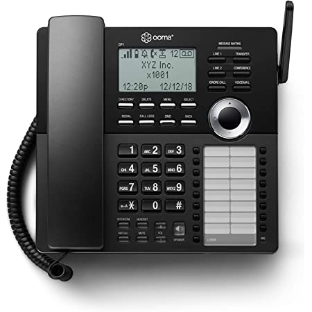Ooma DP1-T Wireless Business Desk Phone. Connects wirelessly to Ooma Telo Base Station. Works with Ooma Telo VoIP Free Internet Home Phone Service.